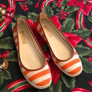 Nine West flats 6.5 Clemson orange